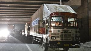 According to officials, the incident took place around 5am Wednesday when the heavily laden truck crashed into the structure of the under-construction flyover and a major segment of a temporary concrete structure, weighing around 30 tonnes, fell on the vehicle.(Picture for representation)