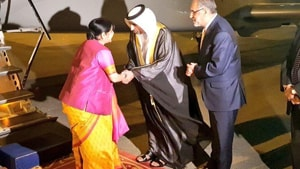 Sushma Swaraj will address the inaugural plenary session of the meeting in Abu Dhabi on March 1 as a guest of honour.(ANI/Twitter)