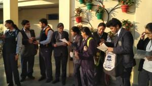 Students satisfied with ISC Chemistry paper.(HT Photo)