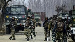 Three security personnel were killed on Friday in an encounter with militants in Kupwara district of Jammu and Kashmir.(AP)