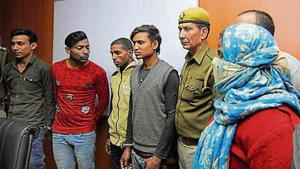 Four arrested from Dadri for February 12 murder of taxi driver(Sunil Ghosh/HT Photo)