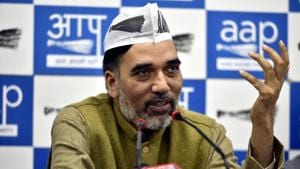 The party's six Lok Sabha candidates, whose names were announced by the leadership on Saturday, have also planned a number of gatherings with the residents and traders of their respective constituencies. (Photo by Amal KS/ Hindustan Times)(Amal KS/HT PHOTO)