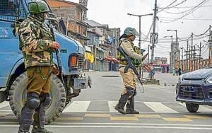 Turning the heat on Jamaat is a part of the Centre's newly crafted push to choke home-bred militancy which forms the lifeline of Jaish and Lashkar. The main objective is to create a conducive security environment in the Valley that will inspire political activities ahead of the general elections(AP)