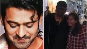 Prabhas poses with a fan.(Instagram)