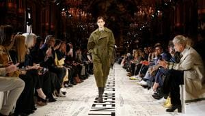 France, March 04 (ANI): Model Kaia Gerber presents a creation by British designer Stella McCartney as part of her Fall/Winter 2019-2020 women's ready-to-wear collection show during Paris Fashion Week in Paris, France on Monday. (ANI/Reuters Photo)(ANI)