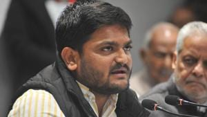 Patidar reservation agitation leader of Gujarat Hardik Patel during interaction with media in Lucknow.(ANI)