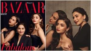 Madhuri Dixit, Alia Bhatt and Sonakshi Sinha define how to be fabulous at all ages in a new shoot for Bazaar magazine.(BAZAAR?Instagram)
