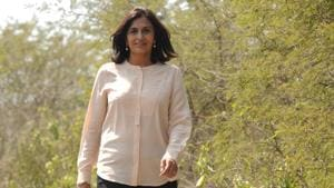 Latika Thukral, the founder of I am Gurgaon, in Gurugram. She helped make the Biodiversity Park into what it is today.(Parveen Kumar / Hindustan Times)