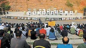 The Municipal Corporation of Gurugram (MCG) is contemplating changing the venue for its upcoming Sufi Nights festival after environmentalists highlighted that the amphitheatre inside Aravalli Biodiversity Park(HT File Photo)