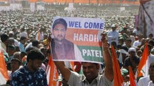 Three years after he made the whole nation take note of him by leading the Patidar youths' agitation for quota in education and jobs, Hardik Patel now needs to walk the tight rope in carving out his path to Delhi.(Siddhraj Solanki/HT)