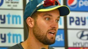 New Delhi: Australia cricket team vice-captain Alex Carey addresses the media ahead of their 5th ODI cricket match against India, in New Delhi, Tuesday, March 12, 2019(PTI)