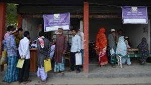 The first draft of the NRC, aimed at identifying illegal immigrants in Assam, did not include names of around 40 lakh people out of a total of 3.29 crore applicants.(AFP/File Photo)