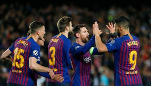 Barcelona's Argentinian forward Lionel Messi(AFP)