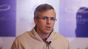 Former Jammu and Kashmir chief minister and vice president of the National Conference (NC) Omar Abdullah said on Sunday that his party was open to a pre-poll alliance with the Congress if the latter agreed to NC's seat sharing formula.(Waseem Andrabi/HT File Photo)