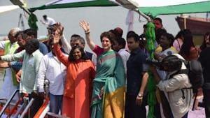 On boat yatra, Priyanka Gandhi jabs PM's 'Main bhi Chowkidar' campaign