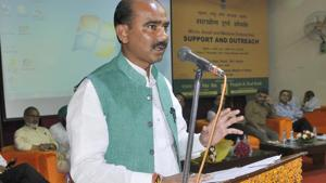 Union Minister State for Textile Ajay Tamta is the BJP member of parliament from Almora Lok Sabha seat.(HT File)