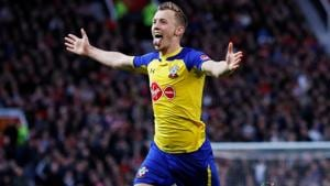Southampton's James Ward-Prowse celebrates scoring their second goal.(REUTERS)