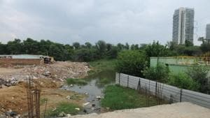 Badshahpur drain widening to be complete by(HT Photo)