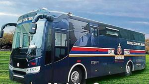 A mobile control room that can be used on the road during public events in the city was launched by the Delhi Police on Tuesday.(Police presentation)