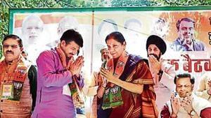 The Bharatiya Janata Party (BJP) will kickstart its campaign for the Lok Sabha elections in Delhi after Holi.(PTI)