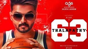 Vijay on the Thalapathy 63 poster.