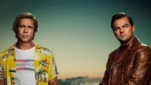 Once Upon a Time in Hollywood trailer: Leonardo DiCaprio and Brad Pitt on the poster.