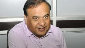Dr. Himanta Biswa Sarma interacts with media during the Assembly Budget Season at Assam Legislative Assembly in Guwahati on Tuesday. () **Pic received on March 23, 2018.(Rajib Jyoti Sarma / HT File Photo)