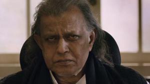 Mithun Chakraborty in a still from the Tashkent Files trailer.