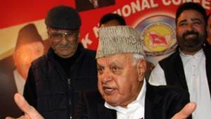 Former Jammu and Kashmir chief minister Farooq Abdullah on Tuesday alleged that YSR Congress president YS Jaganmohan Reddy offered to pay 1,500 crore to the Congress high command if he were made the chief minister of undivided Andhra Pradesh.(HT FILE PHOTO)