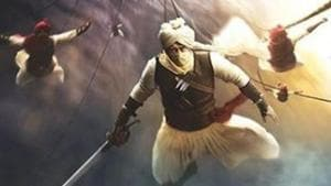 Ajay Devgn in the first look of Tanhaji: The Unsung Warrior.(Intagram)