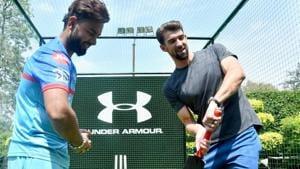 Rishabh Pant and Michael Phelps.(Twitter/DelhiCapitals)