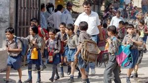 Around 70 unrecognised private schools in the district face the threat of being shut down if they fail to comply with norms required to be fulfilled for recognition by March 31. Ht Photo by manoj kumar(Hindustan Times)