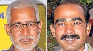 Pradeep Tamta (Left) of the Congress is pitted against Ajay Tamta of the BJP in the Almora Lok Sabha seat.(HT Photos)