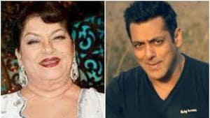 Saroj Khan and Salman Khan worked in films like Biwi Ho Toh Aisi and Andaz Apna Apna in the past.(HT Photo)