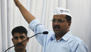 Congress complains to poll officer against CM Arvind Kejriwal(Photo by Biplov Bhuyan/ Hindustan Times)(Biplov Bhuyan/HT PHOTO)