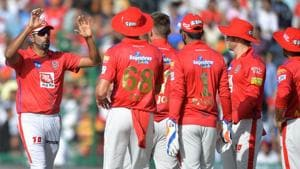 File image of skipper Ravinchandran Ashwin celebrating after the fall of a wicket with his teammates.(AFP)