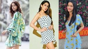 Sara Ali Khan, Janhvi Kapoor, Ananya Panday show you how to style mini dresses.(Instagram)