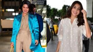 Anushka Sharma and Priyanka Chopra carrying the perfect oversized bags, big on style trends this season.(Instagram)