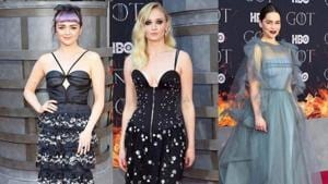 Sophie Turner, Maisie Williams, Emilia Clarke stun in black and grey at the Game of Thrones NYC premiere. See pics