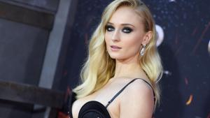 British actor Sophie Turner arrives for the Game of Thrones eighth and final season premiere at Radio City Music Hall.(AFP)