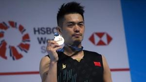 Lin Dan of China poses with his medal after winning the men's singles final match against Chen Long of China at the Malaysia Open badminton tournament in Kuala Lumpur on April 7, 2019. SADIQ ASYRAF / AFP (Photo by SADIQ ASYRAF / AFP)(AFP)