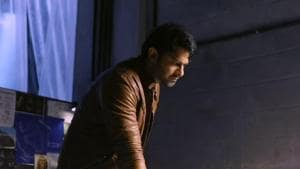Prabhas in a still from Saaho behind the scenes video.