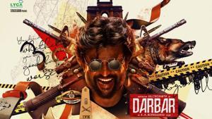 Rajinikanth-AR Murugadoss film titled Darbar, first look poster unveiled. See pic