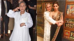 Jaya Bachchan at her dinner party on Monday.(Varinder Chawla)