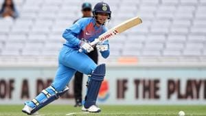 Smriti Mandhana of India bats during game two of the International T20 Series between the New Zealand White Ferns and India at Eden Park on February 08, 2019 in Auckland, New Zealand.(Getty Images)