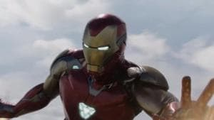 Iron Man in a still from the Avengers: Endgame trailer.