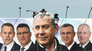 Netanyahu fought the election on his time-tested platform of security and being the flag-bearer of protecting Israel from internal and external threats(REUTERS)