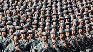 Soldiers from the People's Liberation Army of China preparing for a military parade(REUTERS File)