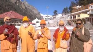Lok Sabha Elections 2019: Seers cast their vote at polling booth set up in Uttarakhand's Gangotri for first time