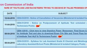 RRB ALP Technician exam postponed(RRB)